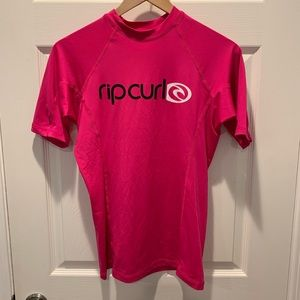 Women's Pink Rip Curl Rash Guard